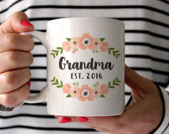 New Grandma Pregnancy Announcement Grandma Coffee Mug by fieldtrip