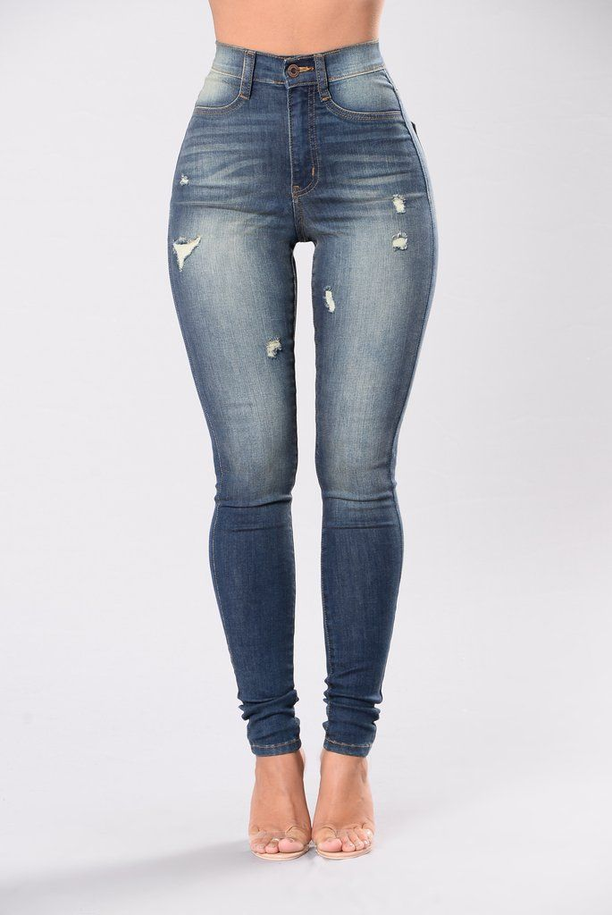 Give Me All Of You Jeans - Medium Blue