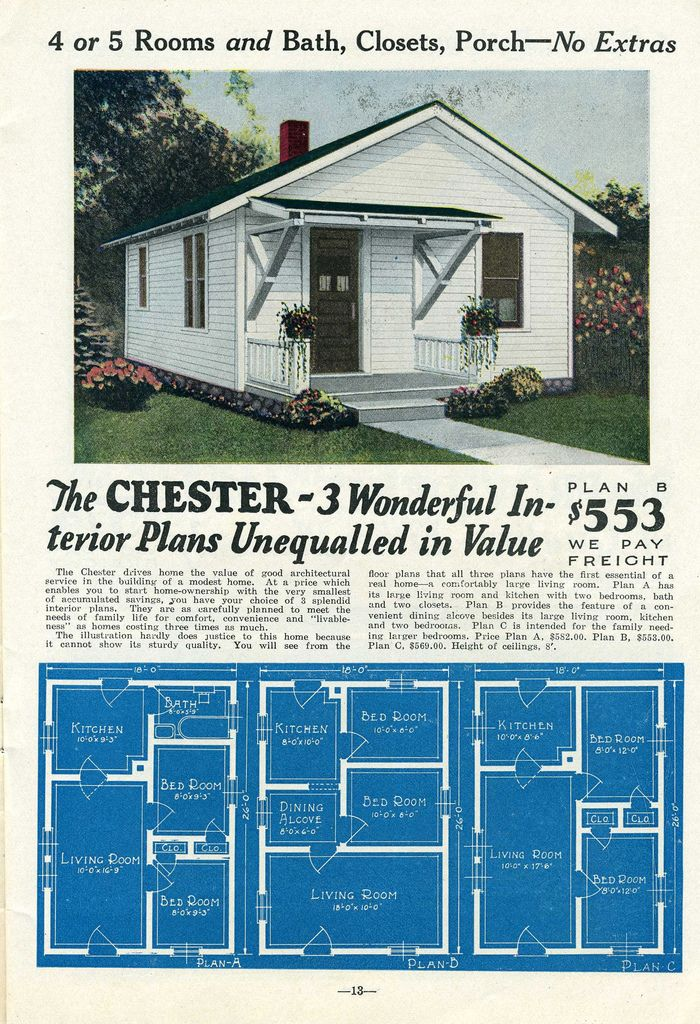Liberty Kit Home 1930 Vintage House Plans 1930s