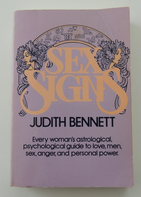 Vintage 1980s Astrology Book  Sex Signs by Judith Bennett by TheCrowdedHouse, $6.95