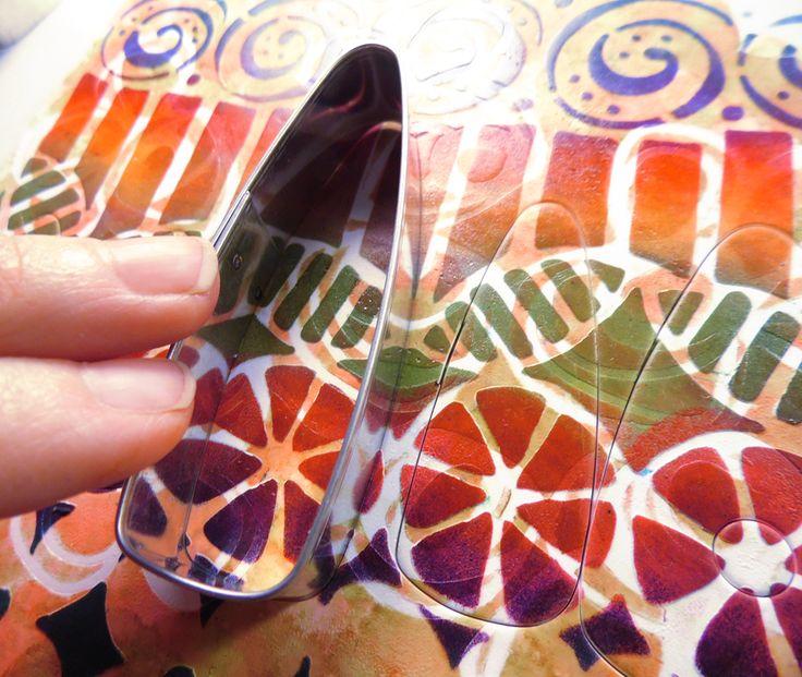 Lorraine Vogel: Creating Jewelry with StencilGirl stencils on #Polymer #Clay #Tutorials