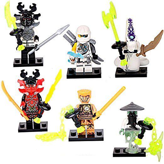6 Ninjago Figuren Zane Pythor Steinkrieger Kuzo Echo Zane Meister Yang