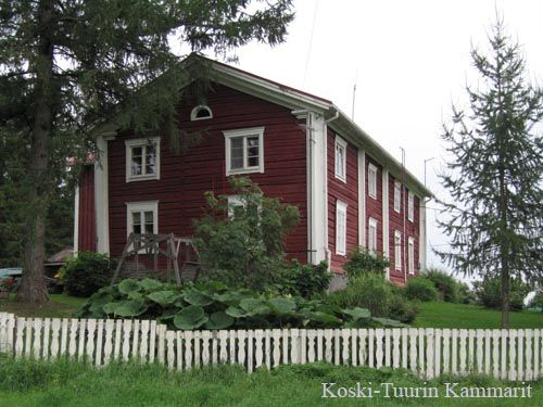 Koski-Tuuri of the main building's history dates back to the late 1700. South Ostrobothnia province of Western Finland. -  Etelä-Pohjanmaa. Alavus, Töysä, Tuuri,