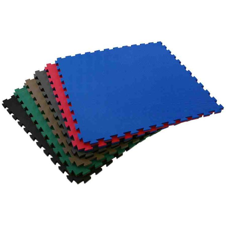 martial arts mats showing stack of tiles