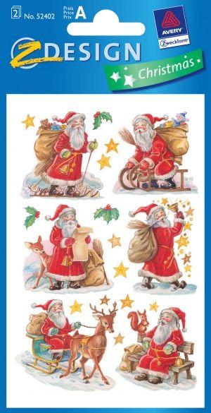 Roztomilý vánoční Samolepky a s třpytkami