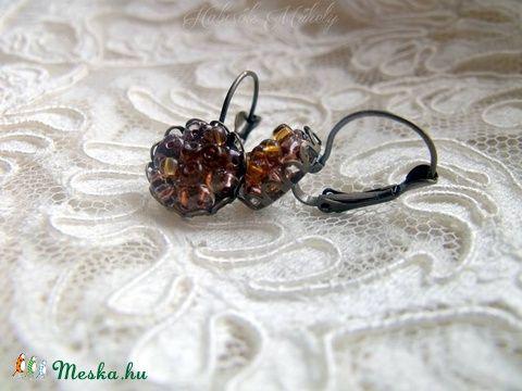 Meska - Vintage fülbevaló gyöngyökkel  habcsokmuhely kézművestől