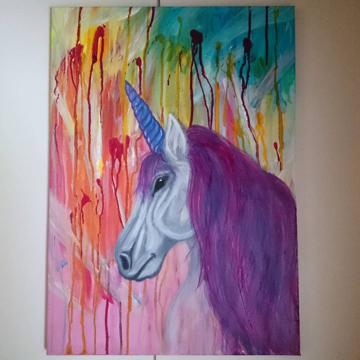 "Unicorn - natamad, Nata Lappi (@natamad) Instagramissa: ""#natamadart #painting #paintings #Art #finnishart #unicorn #artgiants"""