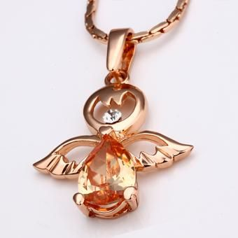 On High 18 Karat Gold Plated Necklace