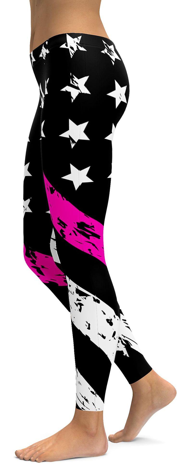 Thin Pink Line Leggings