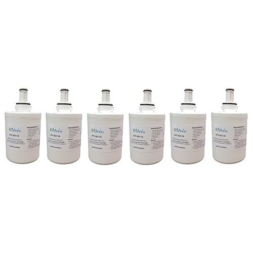 EcoAqua Replacement Water Filter Cartridge for Samsung RFG295AAWP / XAA / XAC - (6 Pack)