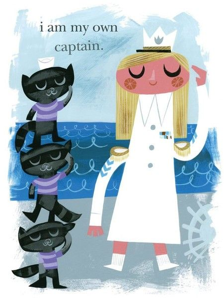 """I am my own captain"" quote - Smart Girl Art - Posters for Girls"