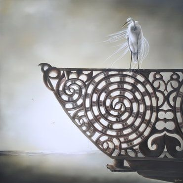 """Sofia Minson. """"He kotuku rerenga tahi"""" is a whakatauki or proverb, which means """"a white heron's flight is seen but once"""". It is used to indicate a very special and rare event and in this case refers to the arrival of Kupe and his waka Matawhaorua."""