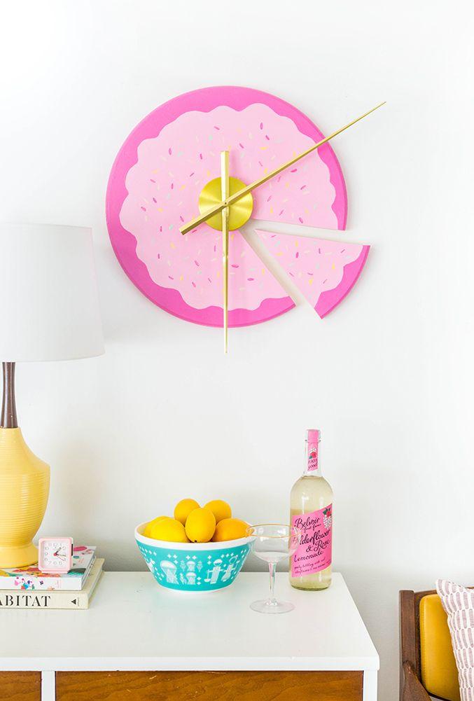 DIY Sliced Cake Wall Clock