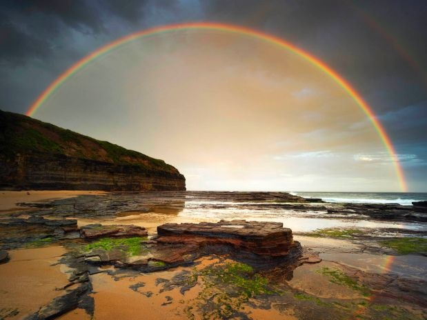 Rainbow in Wombarra, New South Wales,  Australia