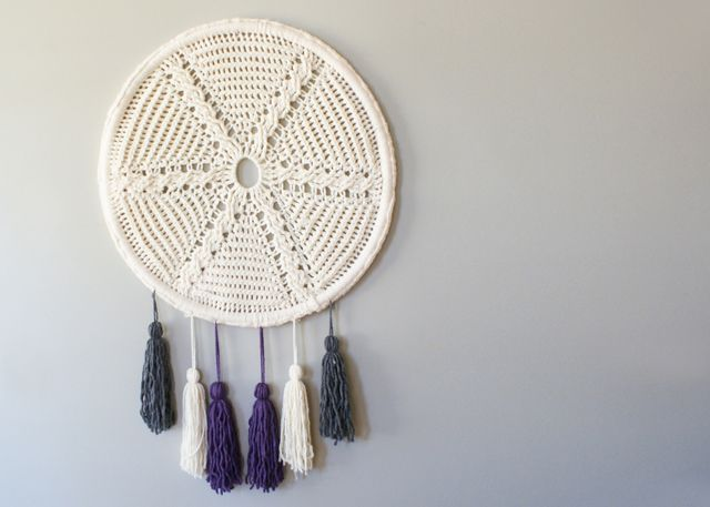 2015023 Cable Star and Tassels Wall Hanging — Midknits