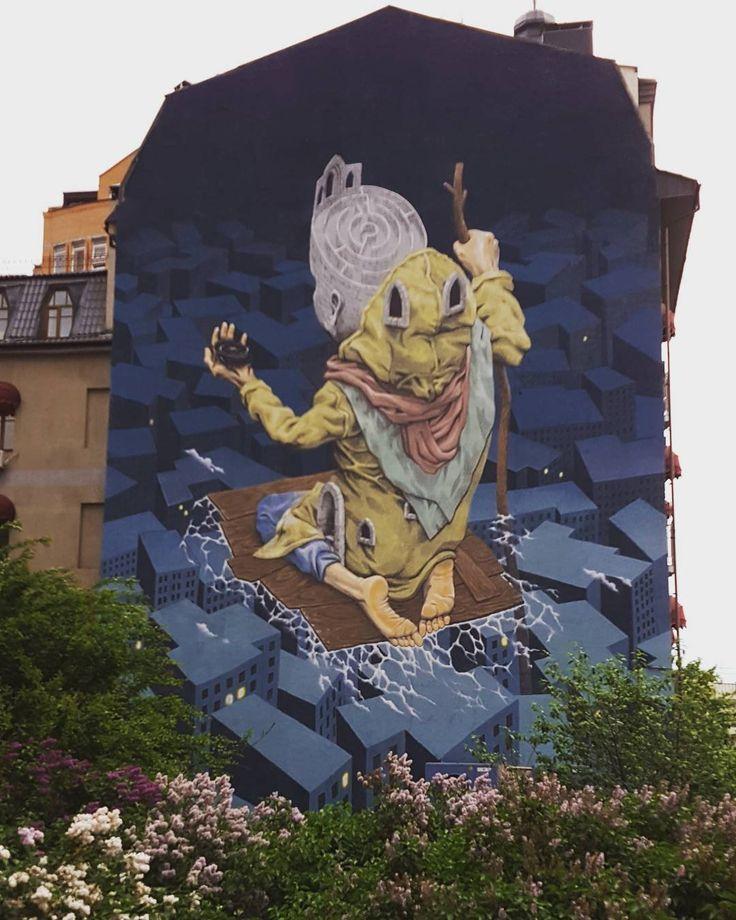 Street art in Kiev Ukraine. Mural by @rustamqbic #streetart #Kiev #urbanart #mural #muralsinkiev #artunitedus adress Dmitrievskaya 60/20 by maksiov