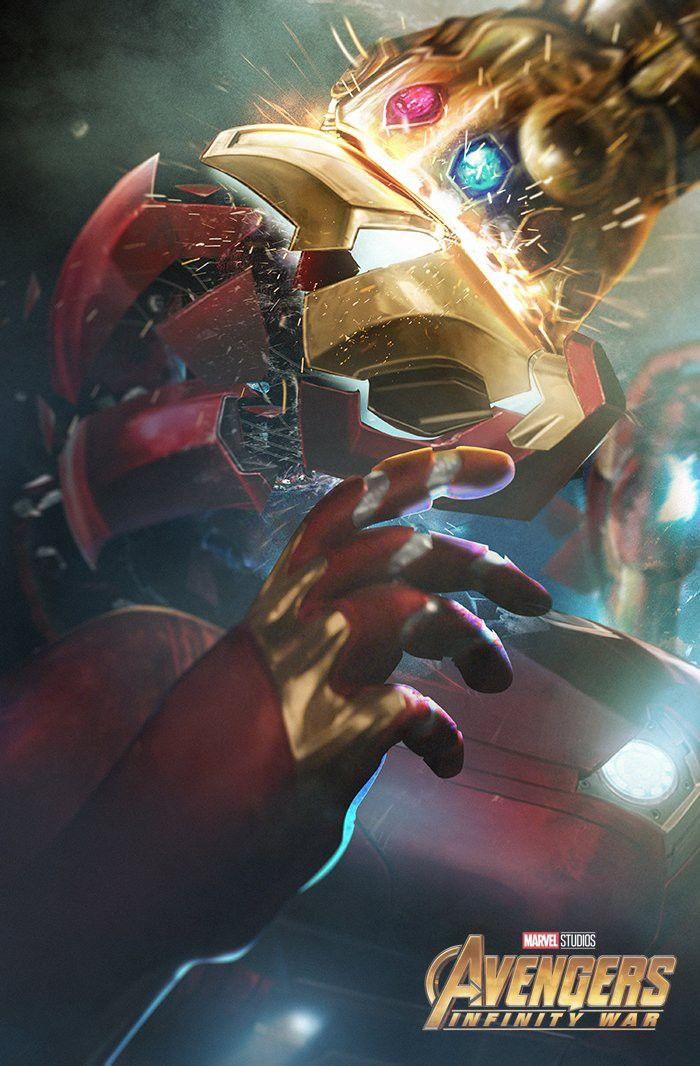 Avengers Infinity War  Iron Man vs Thanos. Art by Bosslogic ... 806017e735f