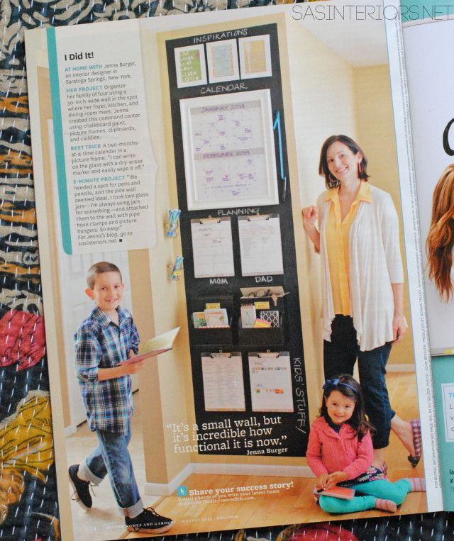 I Did It feature in January 2014 issue of Better Homes and Gardens - @Jenna_Burger of SAS Interiors, www.sasinterior.net