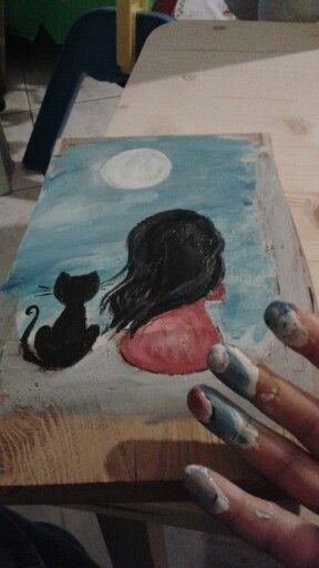 Burning and paint ...with hand :)