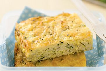 Easy zucchini and rice slice
