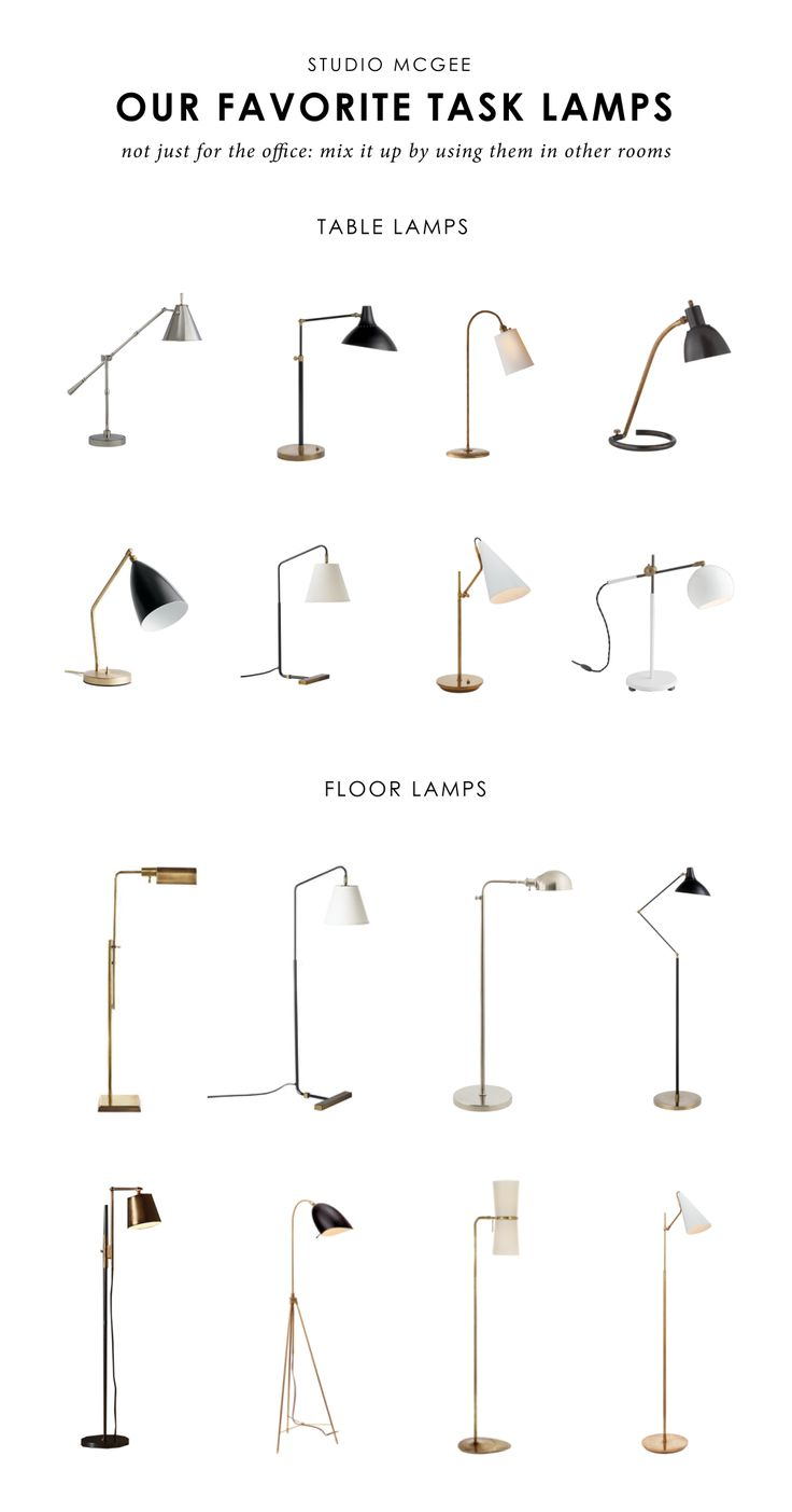 Studio McGee favorite task lamps