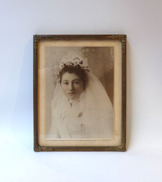 Antique 19th century sepia studio photograph portrait by evaelena