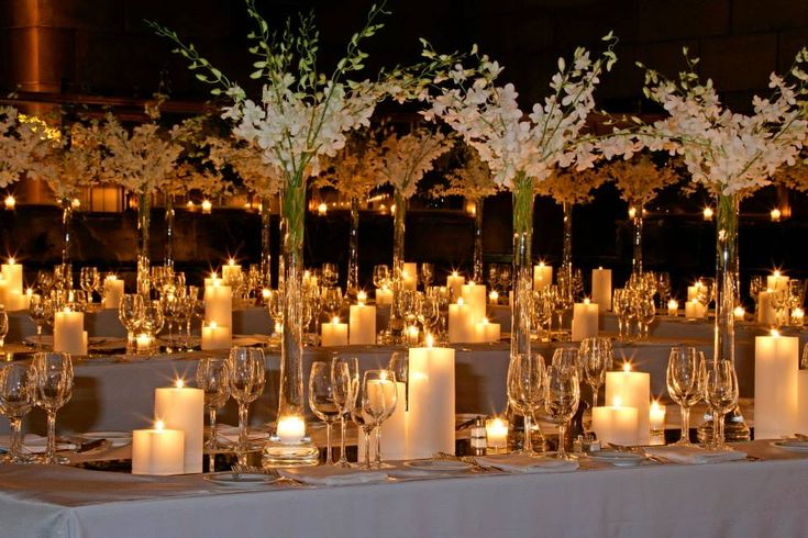 The reception table designs will consist of quot wide or