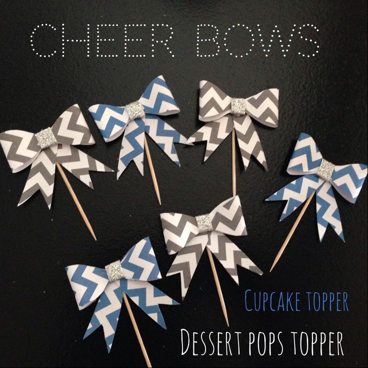 Look what I made! Going on the cupcakes, brownie pops & rice crispy pops. Going to put the die-cut megaphones on the toothpicks for the mini cupcakes!!  #Toocutecheerbanquet #cheer