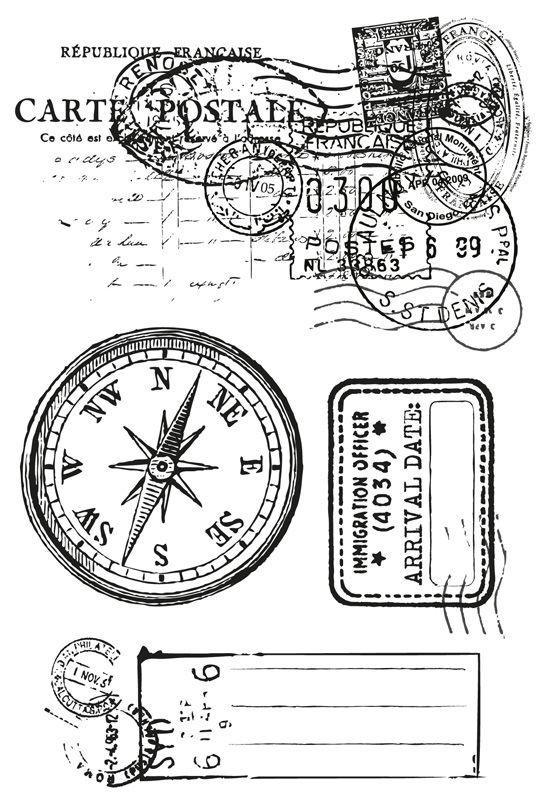 Kaisercraft - Entrada Collection - Acrílico sello