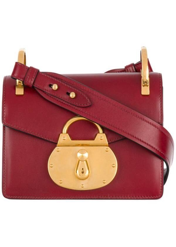 5939dc33b4bcee NEW AUTHENTIC: PRADA PATTINA LOCK SHOULDER BAG - COLOR RUBINO@ebay  @pinterest #money #carrying #product #louisvatton #gucci