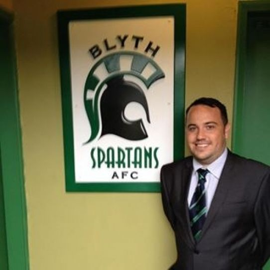 Mark Carruthers: A New Way Of Thinking. Blyth Spartans Press Officer. BSAFC. Croft Park Stadium, Blyth, Northumberland.