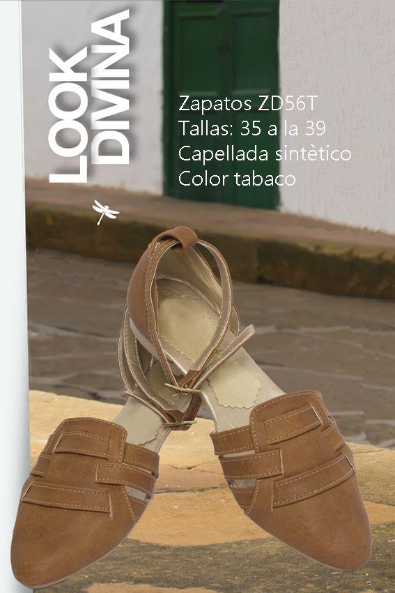 Zapatos en sintético Referenia: ZD56T Tallas: 35 a la 39 Color: Tabaco Precio: $55.000