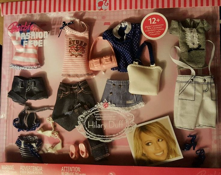 Barbie Fashion Fever 2006 Designed by Hilary Duff - Blue & Pink 12+ Items #Mattel #DollClothingAccessories