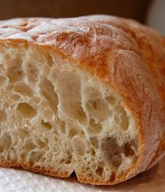 Ciabatta Bread...an easy and very crusty rustic bread
