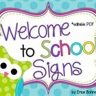"This download is for a ""Welcome to Pre-K,""  ""Kindergarten,"" ""First,"" ""Second,"" ""Third,"" ""Fourth,"" ""Fifth,"" and ""Welcome to ____'s Class"" door sign..."