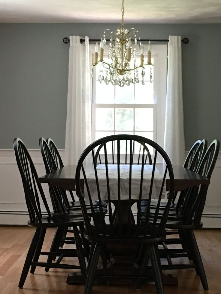 Benjamin Moore Boothbay Gray Paint Dining Room Paint