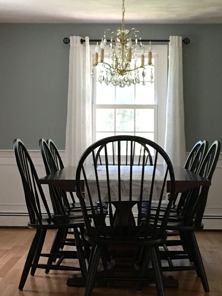 Benjamin Moore Boothbay Gray Paint Dining Room Paint Colors Benjamin Moore Dining Room