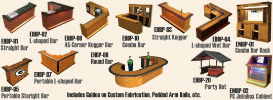 DIY Outdoor Bar Plans | Easy Home Bar Plans - How to Build a Bar, Designs and Ideas