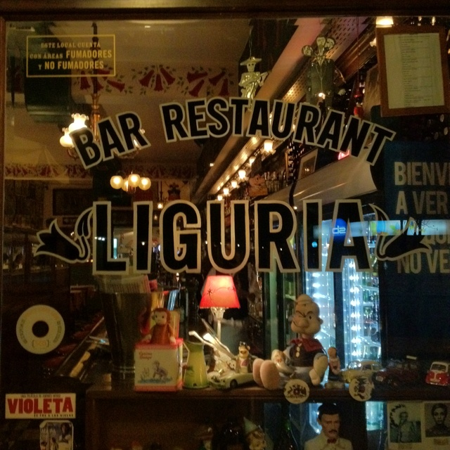Bar Liguria, Santiago, Chile. My fav bar in Santiago, too many a good night to mention.