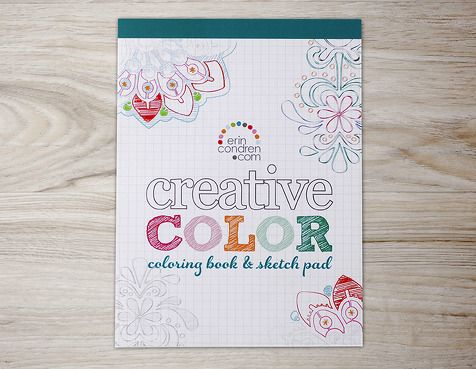 Coloring Book & Sketch Pad: Color your way to a stress free day! #ErinCondren #ColorMeEC