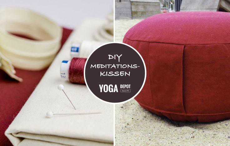 DIY Anleitung für Dein Yogakissen / Meditationskissen / Sitzkissen - Viel Freude beim Nähen und Meditieren wünscht #YOGA DEPOT