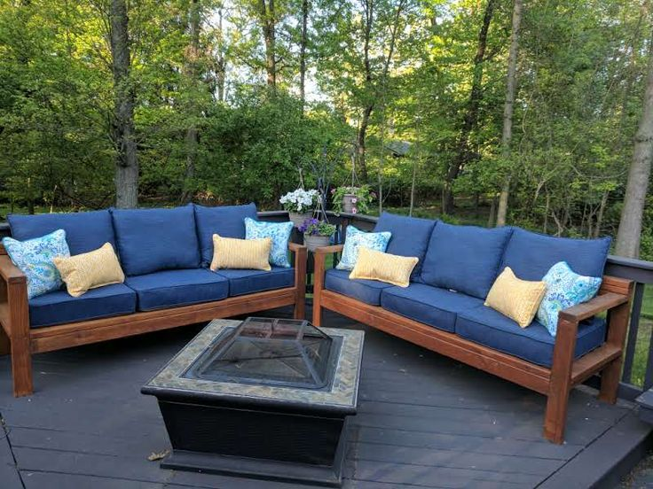 Ana White 2x4 Outdoor Couches! DIY Projects Diy