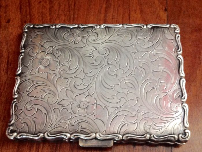 Currently at the #Catawiki auctions: Silver cigarette Case