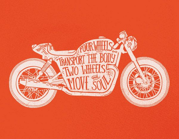 i wish i could pin all of these images //  20 Cool Motorcycle Culture Hand Lettering Illustrations