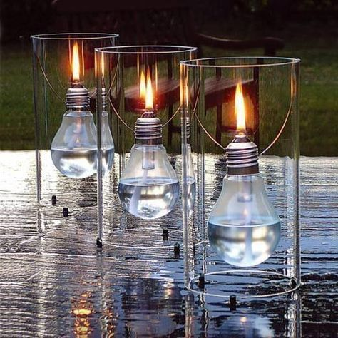 Lampade ad olio in vetro con lampadine oggetti design
