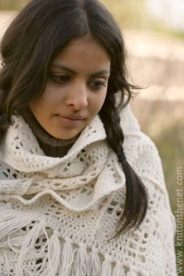 I love this pattern. Perfect for my next project -> Prayer shawl.
