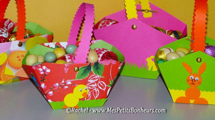 Bricolage : Petit panier en papier à fabriquer pour les oeufs de Pâques