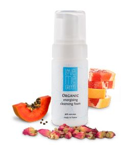 Organic Energising Cleansing Foam  vegane Kosmetik - made in France