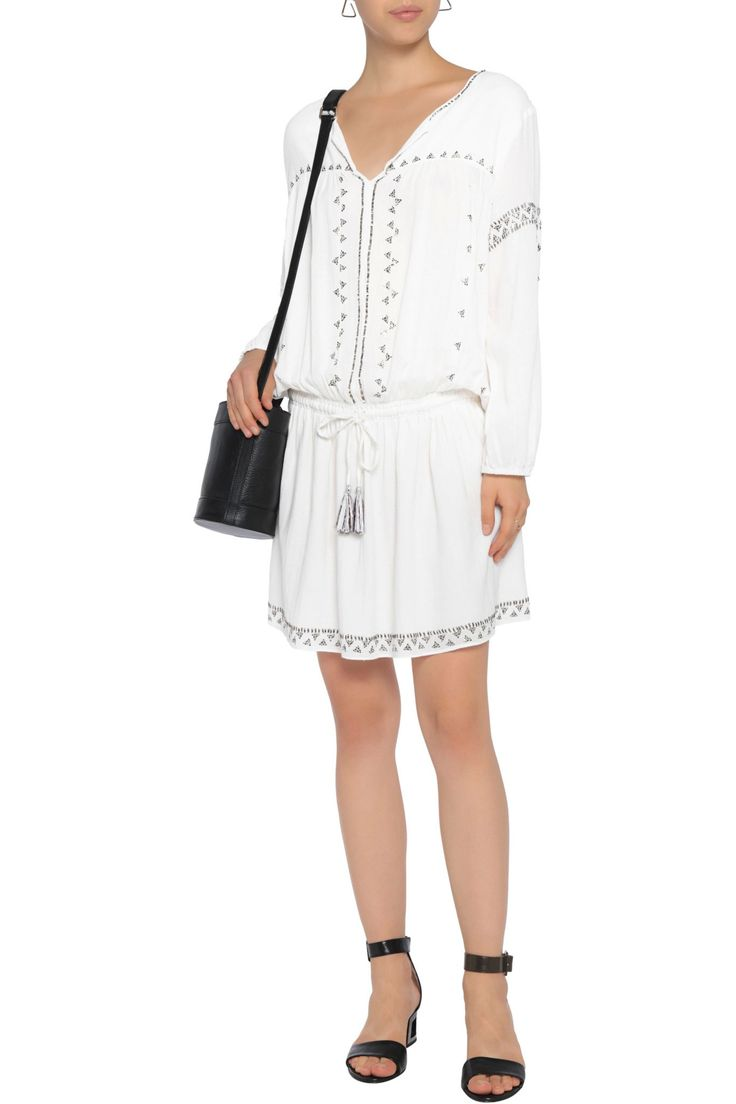 Laka embellished cotton-voile mini dress | JOIE | Sale up to 70% off | THE OUTNET