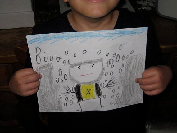 Hand drawn XMens Wolverine picture Marvel by HANNIBALSTOYSNMORE, $2.00    Aw! This child draws pictures and they sell them lolol